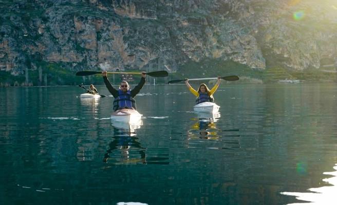 Halfeti'de turizm canlanıyor... Su sporları başladı!