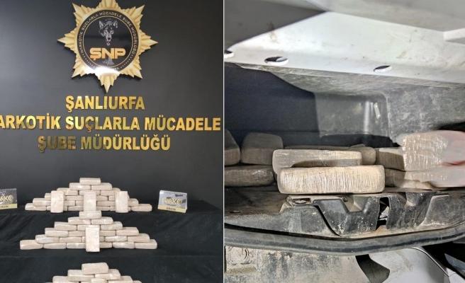 Şanlıurfa'da 31 kilo eroin ele geçirildi
