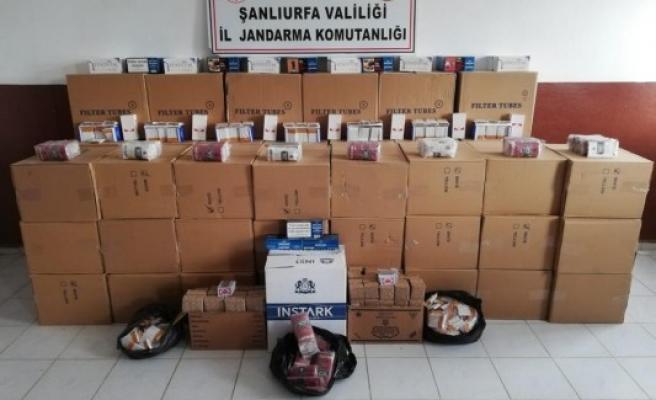 Viranşehir'de kaçak makaron ve puro operasyonu