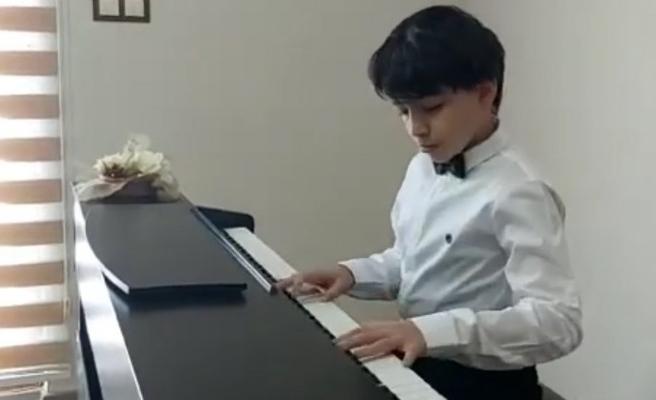 Şanlıurfalı küçük piyanist 1'inci oldu