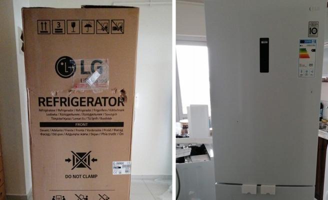 İnternetten aldığı buzdolabı hasarlı çıktı