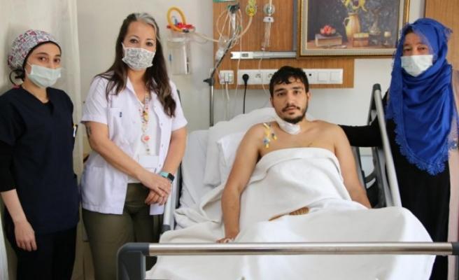 Şanlıurfa'da kalbi duran genç hasta hayata döndü