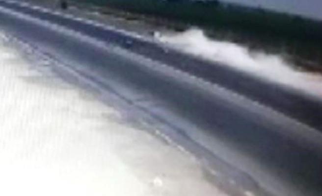 Şanlıurfa'daki feci kaza güvenlik kamerasına yansıdı