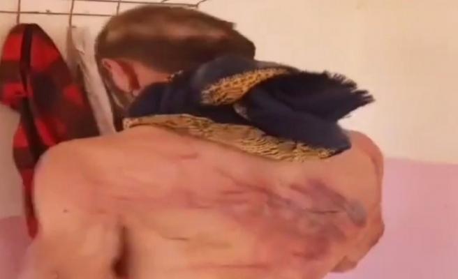 SMO askerlerinden Suriyeli gence kırbaçlı işkence!