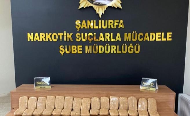 Urfa'da narkotik operasyonu: 3 tutuklama