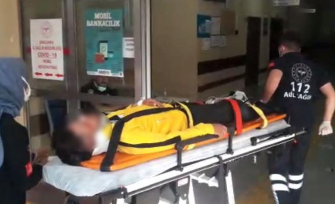 Urfa'da motosiklet kazası: Kurye yaralandı
