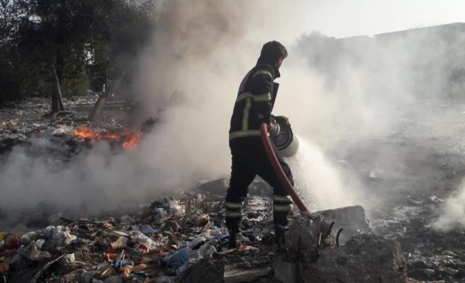 Urfa'da eski sanayi sitesinde yangın!