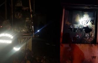 Ceylanpınar'da gece yarısı trafo yangını!