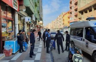 Viranşehir'de 'kaldırım işgali' denetimi yapıldı