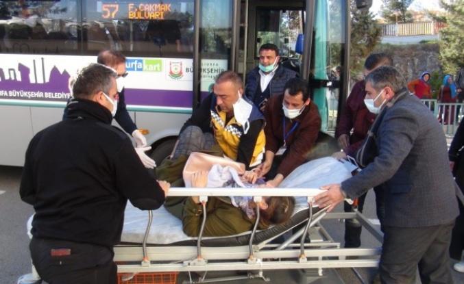 Otobüs şoförü yolcunun hayatını kurtardı