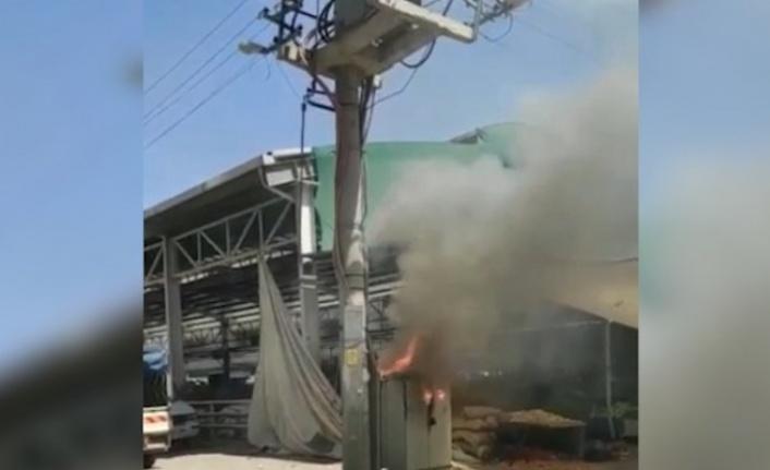 Eyyübiye'de elektrik trafosunda patlama